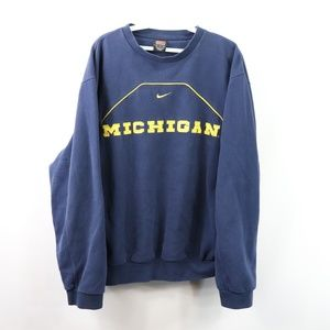 90s Nike Mens Medium Michigan Wolverines Sweater